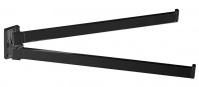 Подробнее о Полотенцедержатель Colombo Look B1612.NM двойной длина 33,5 см черный матовый