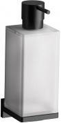 Подробнее о Дозатор для мыла Colombo Look B9316.NM подвесной черный матовый / стекло матовое