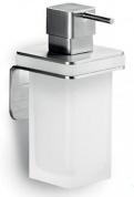 Подробнее о Дозатор для мыла Colombo Over B9328.satin подвесной хром матовый / стекло матовое