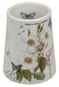 Подробнее о Стакан Creative Bath Botanical Dairy BTL11MULT настольный цвет белый с декором