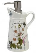 Подробнее о Дозатор Creative Bath Botanical Dairy BTL59MULT настольный цвет белый с декором/хром