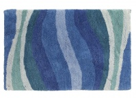 Подробнее о Коврик Creative Bath Wavelength R1251BLU для ванны 81 х 53 см цвет синий/голубой