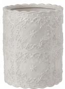 Подробнее о Корзина Creative Bath Ruffles RUF54WH для мусора цвет серый