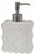 Подробнее о Дозатор Creative Bath Ruffles RUF59WH настольный цвет серый/хром