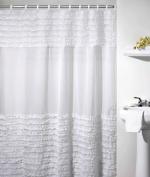 Подробнее о Шторка Creative Bath Ruffles S0892WH для ванны цвет серый