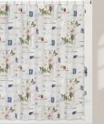Подробнее о Шторка Creative Bath Botanical Dairy S1248MULT для ванны цвет белый с декором