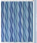 Подробнее о Шторка Creative Bath Wavelength S1251BLU для ванны цвет синий/голубой