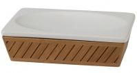 Подробнее о Мыльница Creative Bath Spa Bamboo SBM56BR настольная цвет коричневый/белый