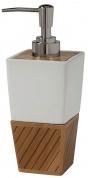 Подробнее о Дозатор Creative Bath Spa Bamboo SBM59BR настольный цвет коричневый/белый/хром