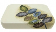 Подробнее о Мыльница Croscill Mosaic Leaves 6A0-004O0-0086-990 настольная цвет белый