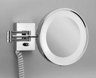 Подробнее о Зеркало косметическое Decor Walther 0106800 BS25PL настенное (3Х) с подсветкой никель