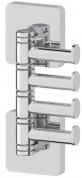 Подробнее о Крючок Ellux Avantgarde AVA 004 четверной поворотный хром