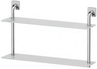 Подробнее о Полка Ellux Avantgarde AVA 037 стеклянная 60 х h37,9 cм 2-х ярусная хром / стекло