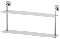 Подробнее о Полка Ellux Avantgarde AVA 038 стеклянная 70 х h37,9 cм 2-х ярусная хром / стекло