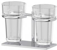 Подробнее о Держатель двух стаканов Ellux Domino DOM 003 хром