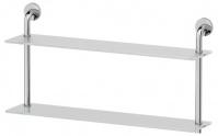 Подробнее о Полка Ellux Elegance ELE 038 стеклянная 70 х h38 cм 2-х ярусная хром / стекло