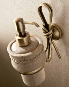 Подробнее о Дозатор мыла Etruska Nodo 1852/D/63/TRA подвесной бронза / травертино
