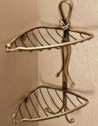 Подробнее о Полка Etruska Nodo 1861/63 решетка угловая двойная бронза