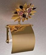 Подробнее о Бумагодержатель Etruska Papillon 4754/55/PERLA закрытый золото/белый