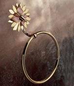 Подробнее о Полотенцедержатель Etruska Papillon 4765/55/RED кольцо золото/красный