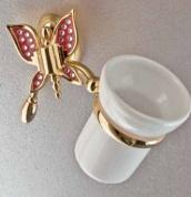 Подробнее о Стакан Etruska Icaro 4801/55/PERLA/VS подвесной золото/белый/стекло матовое