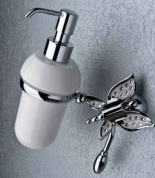 Подробнее о Дозатор мыла Etruska Icaro 4802/D/53/PERLA/CER подвесной хром/белый/керамика