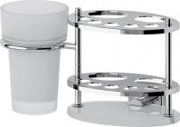 Подробнее о Держатель FBS Esperado ESP 061 для зубных щеток со стаканом хром /стекло матированное