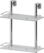 Подробнее о Полка FBS Esperado ESP 062 стеклянная 2 х уровневая 30 см хром / cтекло матированное