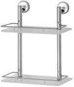 Подробнее о Полка FBS Luxia LUX 062 стеклянная 2 х уровневая 30 см хром / cтекло матированное