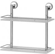 Подробнее о Полка FBS Luxia LUX 063 стеклянная 2 х уровневая 40 см хром / cтекло матированное
