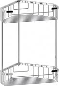 Подробнее о Полка FBS Ryna RYN 006 решетка угловая 2 х уровневая хром
