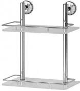 Подробнее о Полка FBS Standard STA 062 стеклянная 2 х уровневая 30 см хром / cтекло матированное