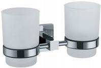 Подробнее о Стакан Fixsen Metra FX-11107 подвесной двойной хром/стекло матовое