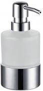 Подробнее о Дозатор для мыла Fixsen FX-128 настольный хром/стекло матовое