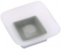 Подробнее о Мыльница Fixsen Kvadro FX-130A настольная цвет хром/стекло матовое