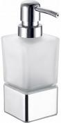 Подробнее о Дозатор для мыла Fixsen Kvadro FX-130C настольный хром/стекло матовое