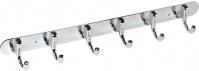 Подробнее о Вешалка с крючками Fixsen FX-1716 на планке (6 шт.) хром