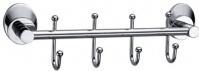 Подробнее о Вешалка с крючками Fixsen Europa FX-21805B-4 на планке (4 шт.) хром