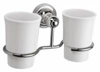 Подробнее о Стакан Fixsen Style FX-41107 подвесной двойной хром/керамика белая