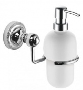 Подробнее о Дозатор для мыла Fixsen Style FX-41112 подвесной хром/керамика белая