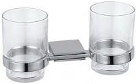 Подробнее о Стакан Fixsen Noble FX-6107 подвесной двойной хром/стекло
