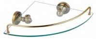 Подробнее о Полка Fixsen Antik FX-61103A стеклянная угловая 27,5 х 27,5 см бронза/стекло матовое