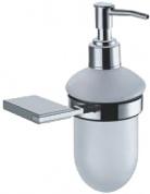 Подробнее о Дозатор для мыла Fixsen Noble FX-6112 подвесной хром/стекло матовое