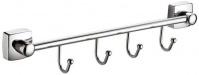 Подробнее о Вешалка с крючками Fixsen Kvadro FX-61305B-4 на планке (4 шт.) хром