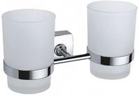 Подробнее о Стакан Fixsen Kvadro FX-61307 подвесной двойной хром/стекло матовое