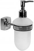 Подробнее о Дозатор для мыла Fixsen Kvadro FX-61312 подвесной хром/стекло матовое