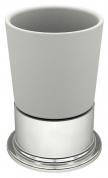 Подробнее о Стакан Fixsen Best FX-716 настольный хром/керамика белая