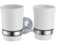 Подробнее о Стакан Fixsen Best FX-71607 подвесной двойной хром/керамика белая
