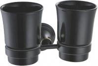 Подробнее о Стакан Fixsen Luksor FX-71607B подвесной двойной цвет черный/керамика черная