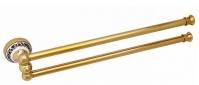 Подробнее о Полотенцедержатель Fixsen Bogema Gold FX-78502AG двойной `рога` длина 46 см золото